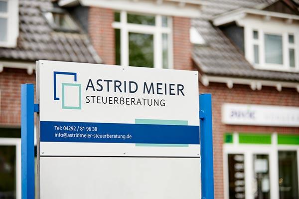 Astrid Meier - Straßenschild